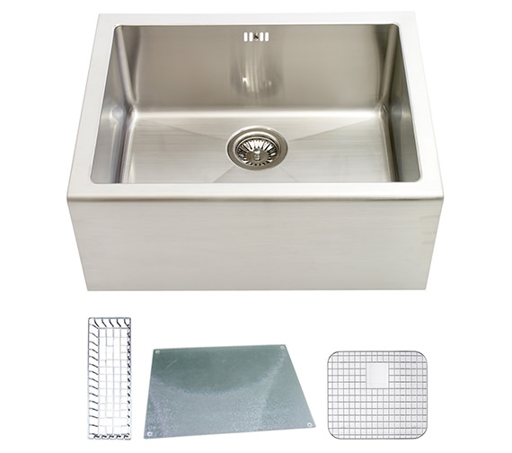 Astracast Belfast 1.0 Bowl Stainless Steel Sit-In Sink And Accessories