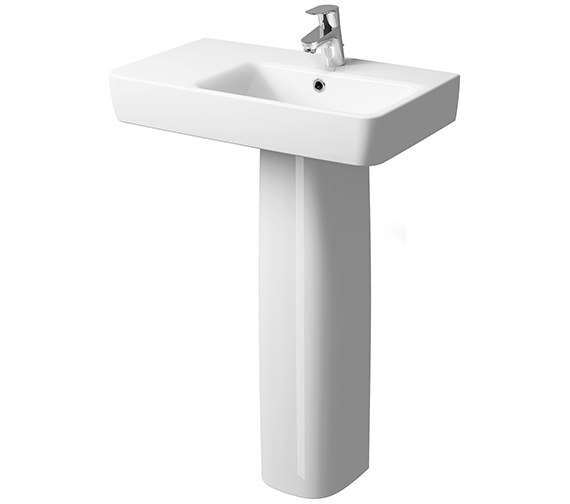 Additional image of Twyford E200 650 x 370mm Right Hand Shelf Basin