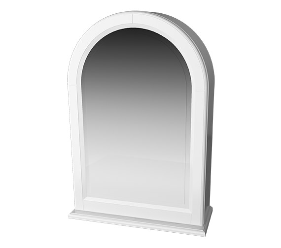 Miller Traditional 1903 Arched Framed White Mirror Cabinet 494 x 706mm