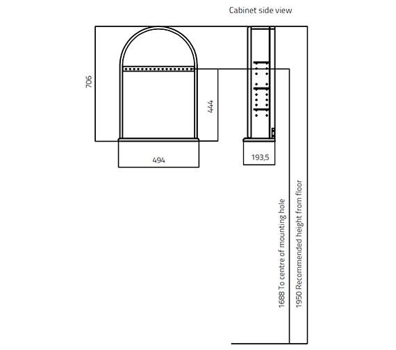 Technical drawing QS-V27834 / 353V-2