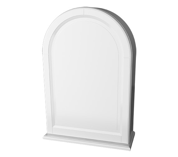 Miller Traditional 1903 Arched Framed White Cabinet 494 x 706mm