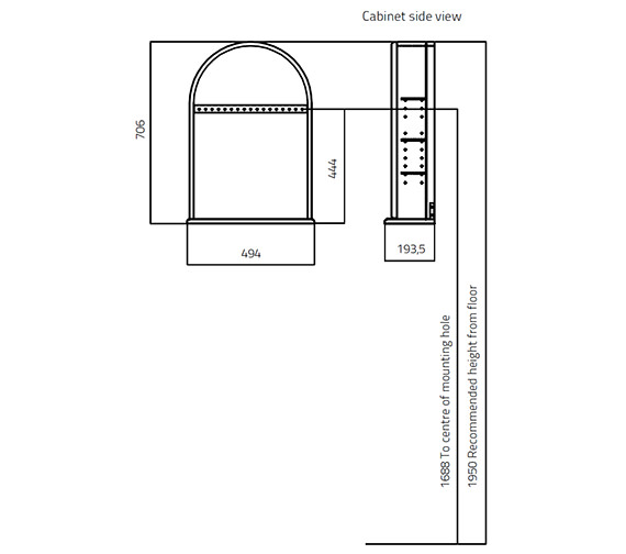 Technical drawing QS-V27835 / 354V-2