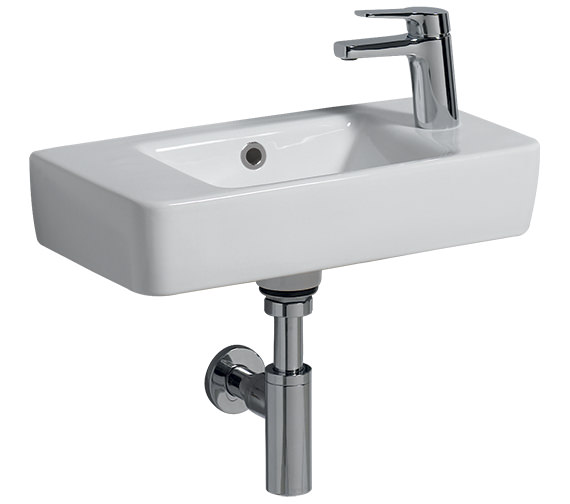 Twyford E200 1 Tap Hole Washbasin 500 x 250mm With Centre Bowl