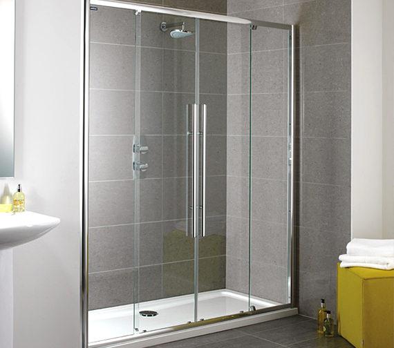 Showerlux Linea Touch Twin Slider Shower Door 1700mm - 1861700500