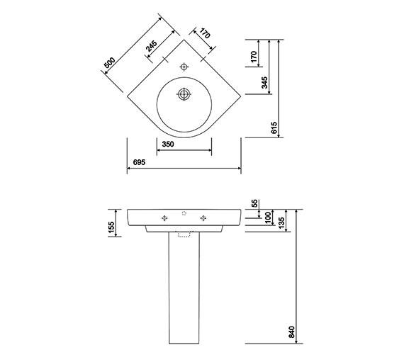 Technical drawing QS-V10251 / E24191WH