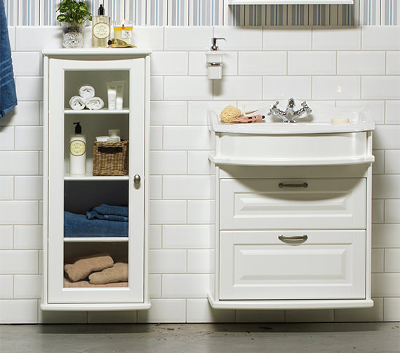 Additional image of Miller Traditional 1903 - 65 Wall Hung Basin Vanity Unit With Drawers