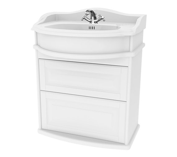 Miller Traditional 1903 - 65 Wall Hung Basin Vanity Unit With Drawers