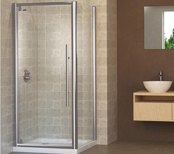 Showerlux linea touch pivot shower door 1000mm for 1000mm pivot shower door