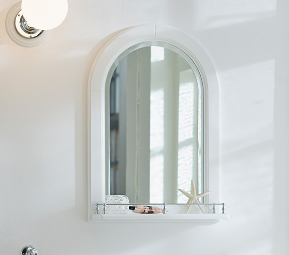 Miller Traditional 1903 Mirror With White Arched Frame And