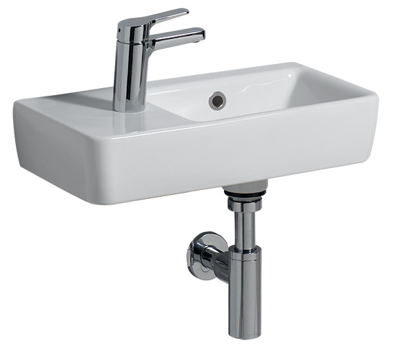 Twyford E200 Space-Saver Basin 500 x 250mm With 1 Tap Hole