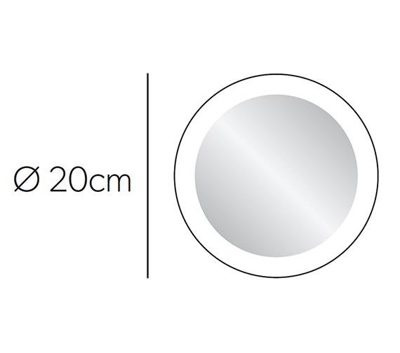 Hib Libra Led Illuminated Magnifying Mirror 21400