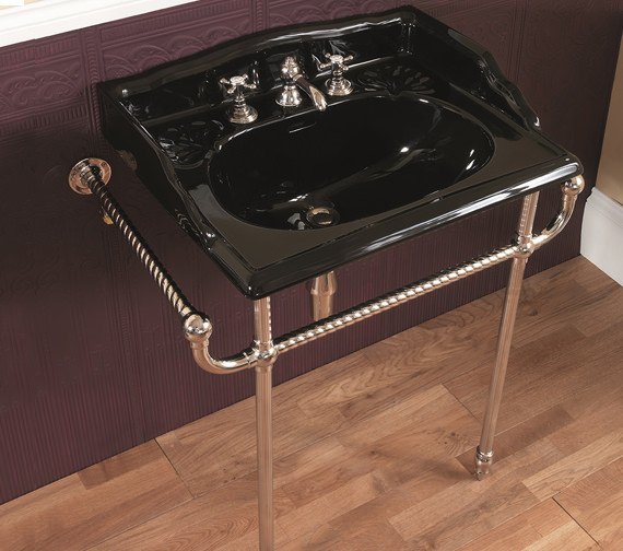 Alternate image of Silverdale 635mm Basin And Chrome Basin Stand - VCTRASTNDCHR