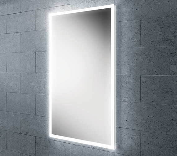 Additional image of HIB Globe 50 Steam Free LED Mirror With Ambient Lighting 500 x 700mm