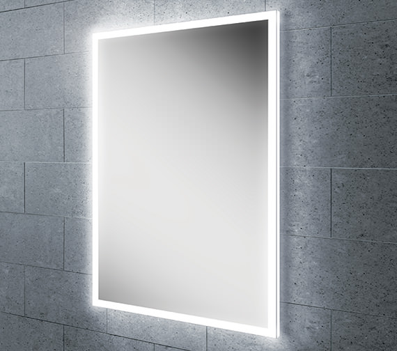 HIB Globe 50 Steam Free LED Mirror With Ambient Lighting 500 x 700mm