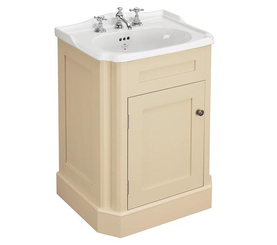 Silverdale Balasani 600mm Single Door Latte Stone Vanity Cabinet