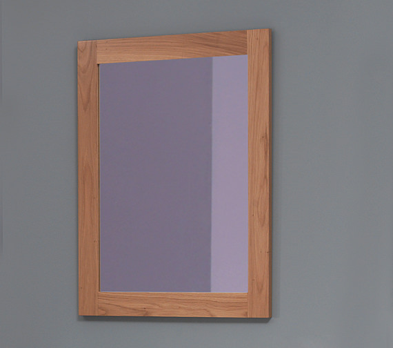 Silverdale Traditional 800 x 650mm Light Oak Mirror - MIRROR800X650LIGHTOAK