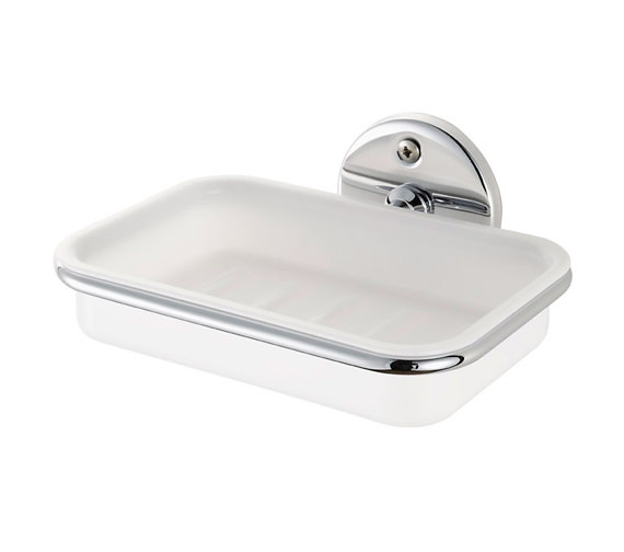 Aqualux Haceka Standard Chrome And White Soap Holder