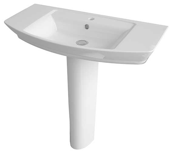 Lauren Clara 850mm 1 Tap Hole Basin And Full Pedestal
