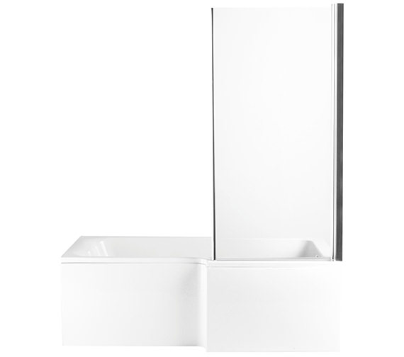 Alternate image of Heritage Zaar L Shaped Bath Screen With Return Panel 1660 x 760 x 150mm