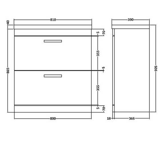 Technical drawing QS-V27412 / SH82DW