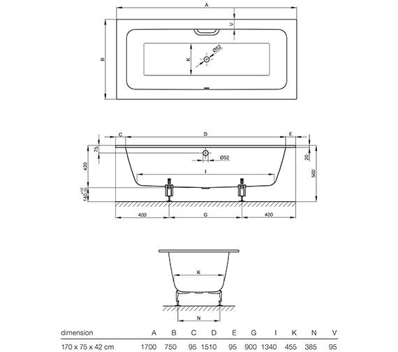 Technical drawing QS-V13359 / 3312 000