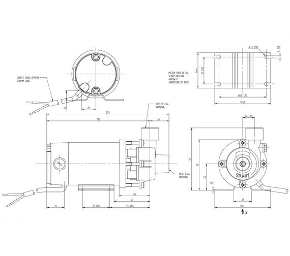 Technical drawing QS-V8379 / 46166