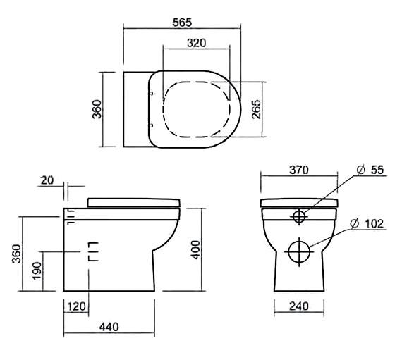 Technical drawing QS-V6281 / SILRI102