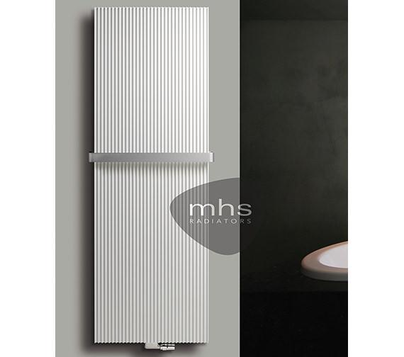 MHS Canyon White Aluminium Designer Radiator 530 x 1800mm