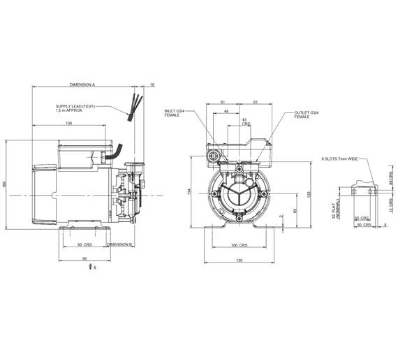 Technical drawing QS-V8391 / 46504