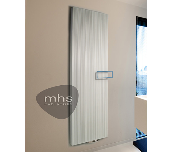 MHS Bryce Plus Black Aluminium Designer Radiator 525 x 1800mm