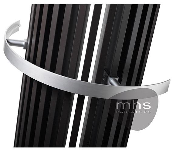 Additional image of MHS Zana Angle Anthracite Designer Radiator 268 x 1400mm