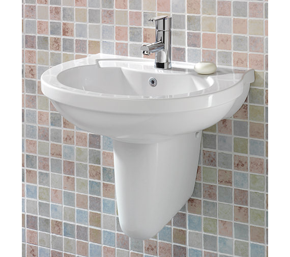 Silverdale Thames 560mm 1 Tap Hole Basin