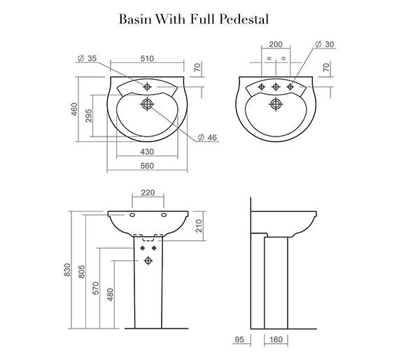 Technical drawing QS-V6265 / SILTH656