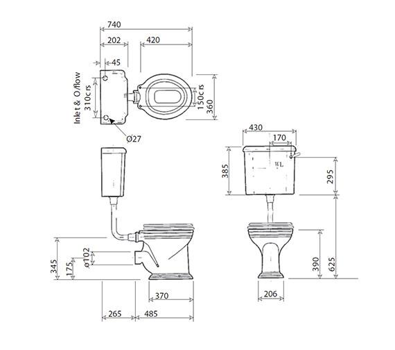 Technical drawing QS-V4260 / VCCLOHL6OEW