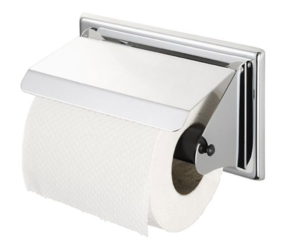 Aqualux Haceka Standard Toilet Roll Holder With Lid - 1110586