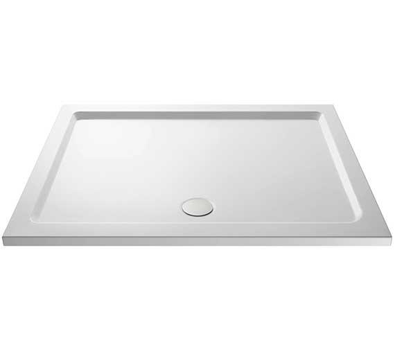 Premier Pearlstone 1400mm Rectangular Shower Tray - Centre Waste
