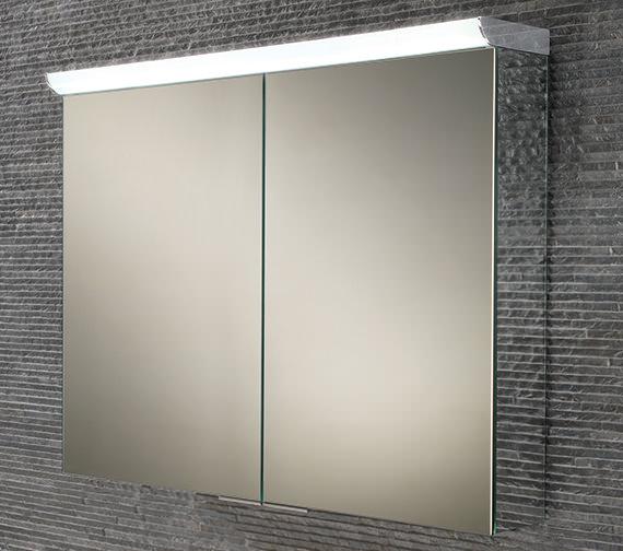 HIB Ember 80 Double Door LED Illuminated Mirror Cabinet 800 x 700mm