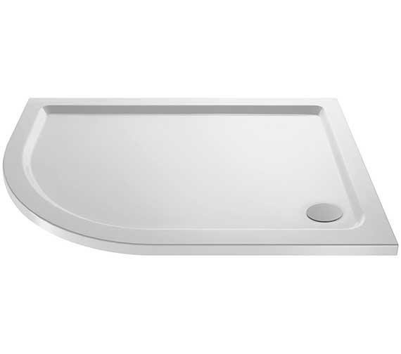 Premier Pearlstone Left Hand 900 x 760mm Offset Quadrant Shower Tray