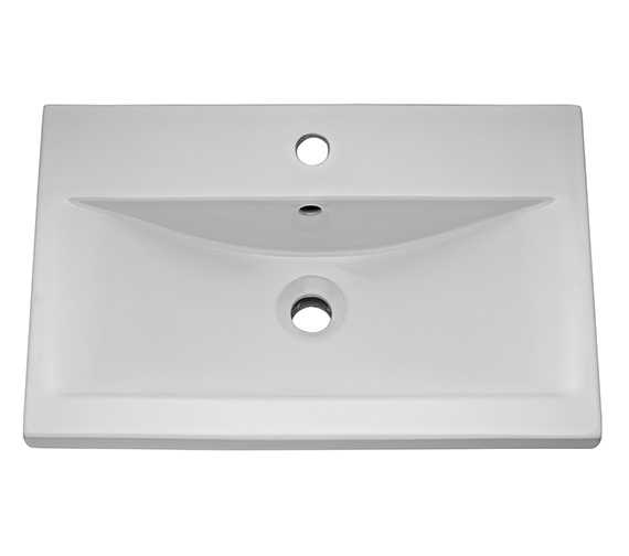 Hudson Reed 600mm 1 Tap Hole Mid-Edged Basin