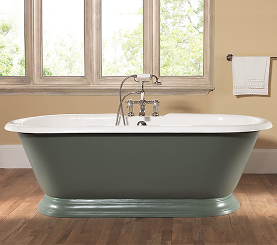 Silverdale Portia Dual Roll Top Bath 1780 x 800mm - POBTH2FTWHI