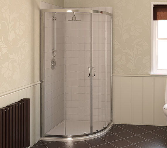 Aqualux Aqua 4 Quadrant 800 x 800mm Shower Enclosure White