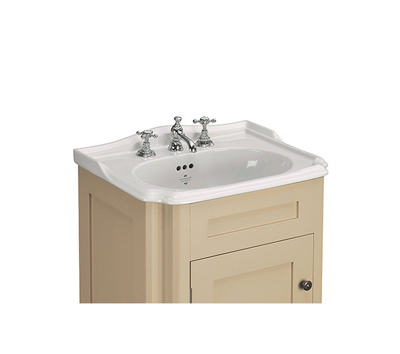 Silverdale Balasani White 3 Taphole 600mm Inset Vanity Basin