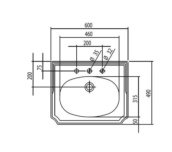 Technical drawing QS-V4269 / BSBASVN3WHIBL