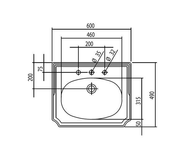 Technical drawing QS-V4269 / BSBASVN60HWHIBL