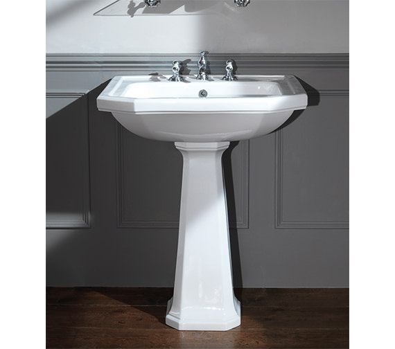 Silverdale Empire 620mm 3 Tapholes Basin White