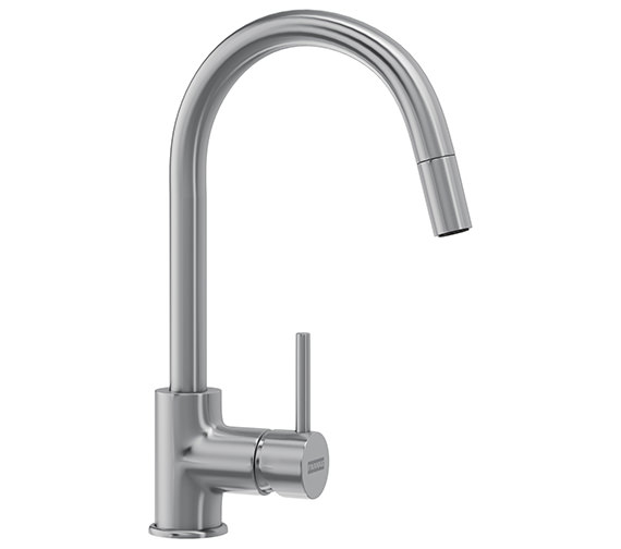 Franke Aria Pull-Out Nozzle Kitchen Sink Mixer Tap SilkSteel PVD