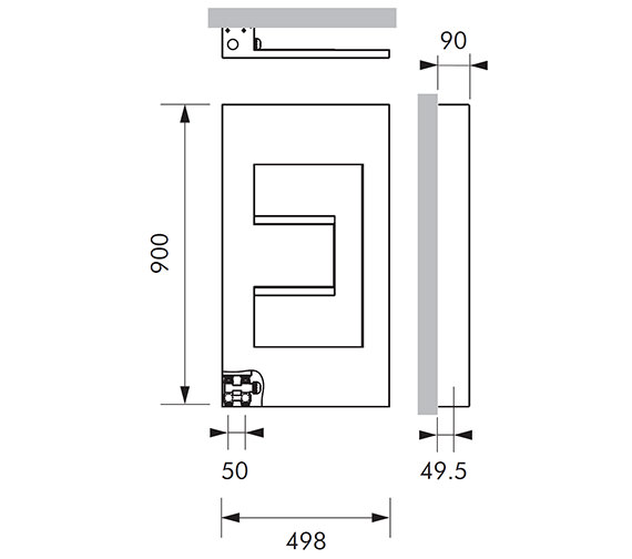 Technical drawing QS-V83046 / DELL015090049