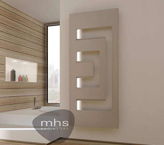 MHS Dello Electric Designer Radiator With LED Lighting 498 x 900mm