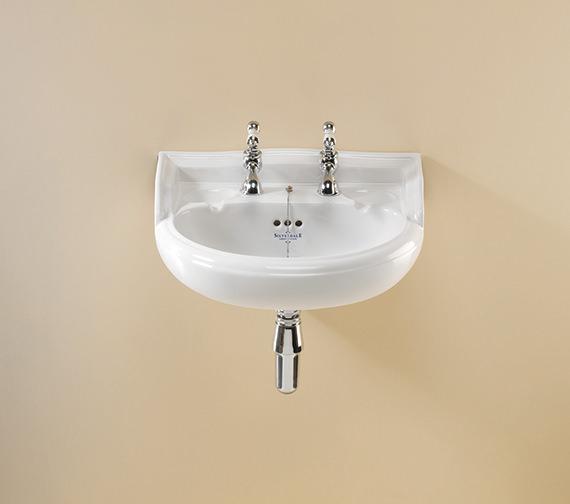 Silverdale Nouveau 2 Taphole White Cloakroom Basin - NSBAS49GWHIBL