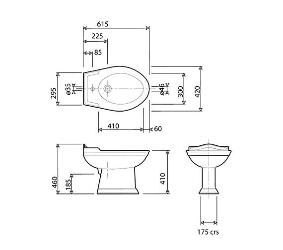 Technical drawing QS-V24732 / NSBID1THWHIBL